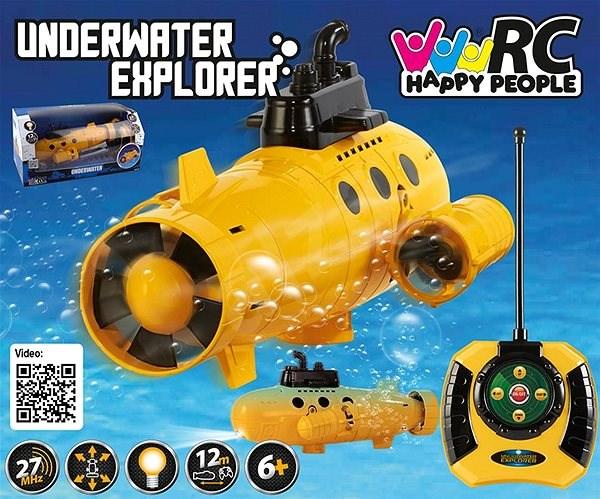 Velká ponorka Explorer s osvětlením 40 Mhz dosah 12m - RC model