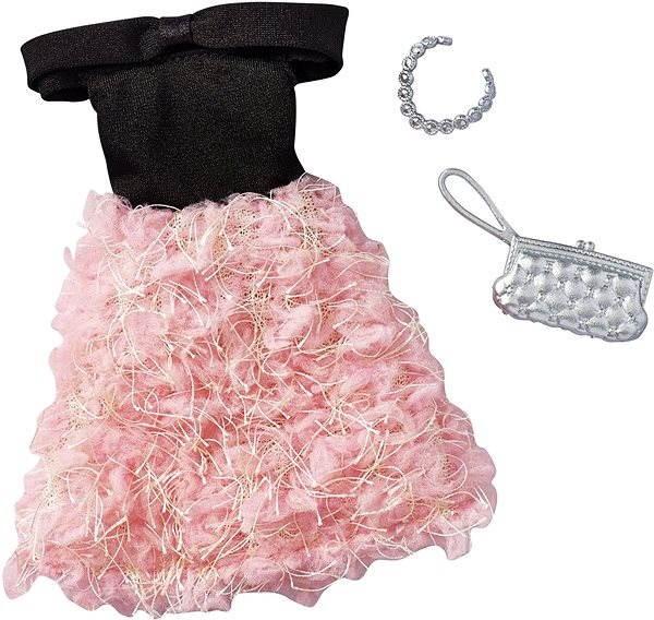 25da70067 Mattel Barbie Šaty s doplňky – černo-krémové - Příslušenství k panence