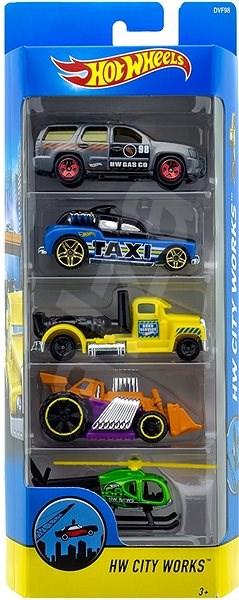 Hot Wheels Angličáky 5 ks - City - Sada autíček