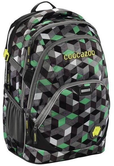 CoocaZoo EvverClevver 2 Crazy Cubes Green - Školní batoh  5f94c03451