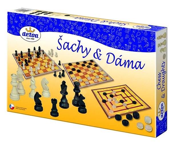 Detoa Šachy a dáma - Společenská hra