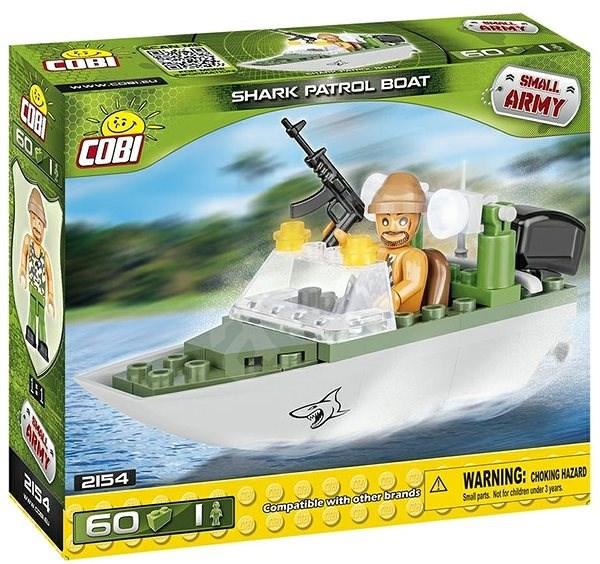 Cobi 2154 Small Army Patrolovací člun Shark - Stavebnice