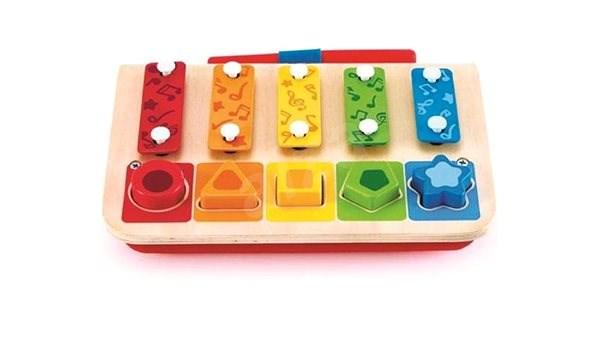Hape Prostrkávadlo Xylofon - Hudební hračka