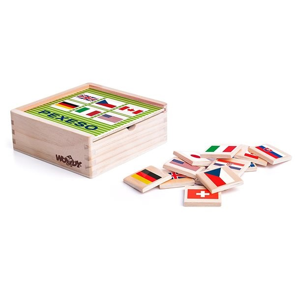 Woody Pexeso-Flags - Game Set