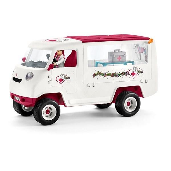 Schleich 42370 Mobilní veterinářská klinika s klisnou a ošetřovatelem - Herní set