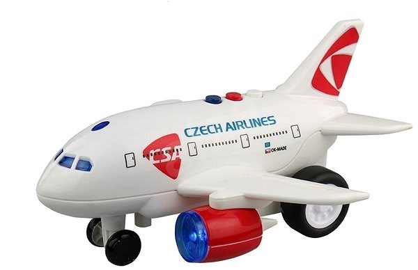 Letadlo ČSA s hlášením kapitána a letušky - Letadlo