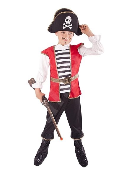 Pirate with Hat, Size M - Children's Costume