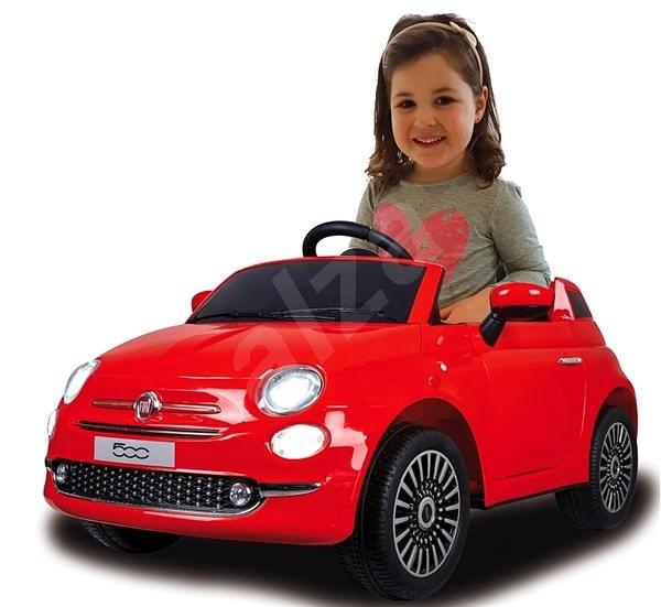 Jamara Ride-on Fiat 500 - červený  - Dětské elektrické auto