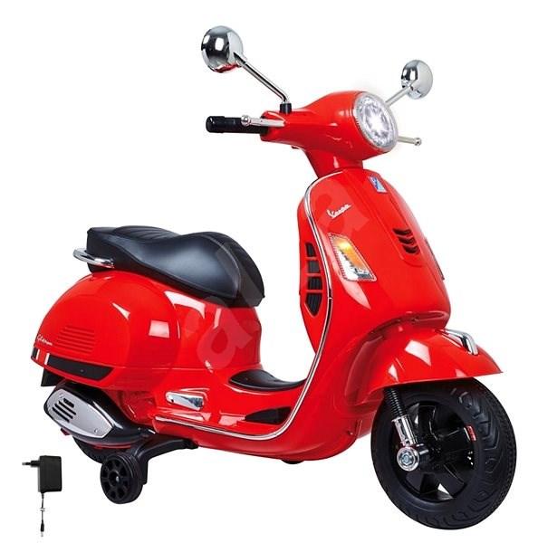 Jamara Ride-on Vespa - červená  - Dětská elektrická motorka