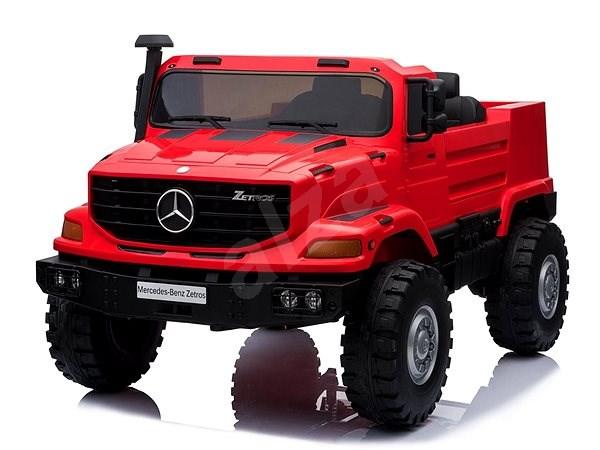 Mercedes-Benz Zetros 24V, červené  - Dětské elektrické auto