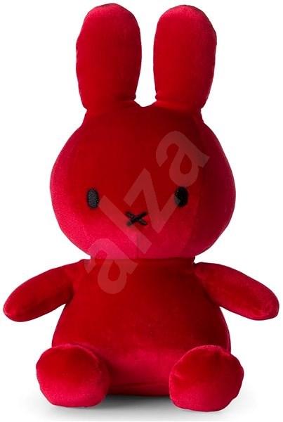 Miffy Sitting Velvet Candy Red - Plyšák