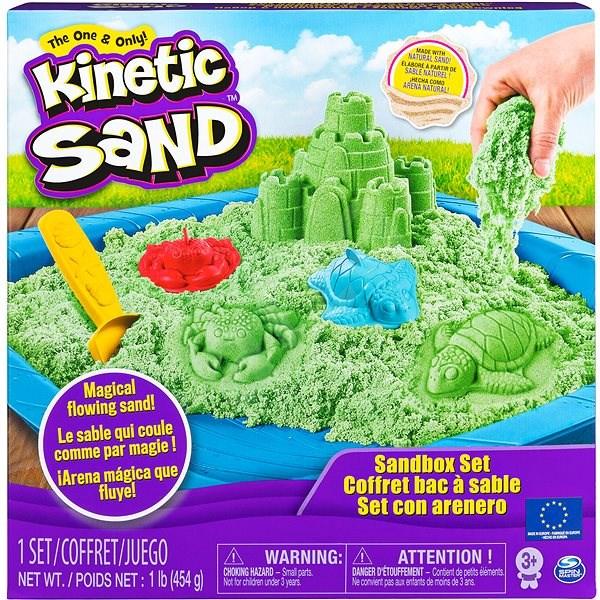 Kinetic Sand písečný zámek - zelený - Kreativní sada