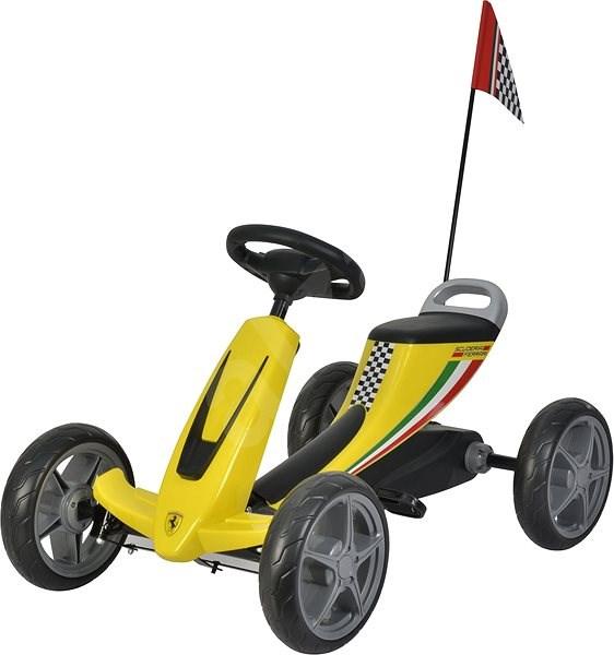 Buddy Toys šlapací kára - žlutá - Tříkolka