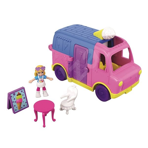 Polly Pocket Vozidlo Ice Cream truck Le camion de Glaces - Herní set