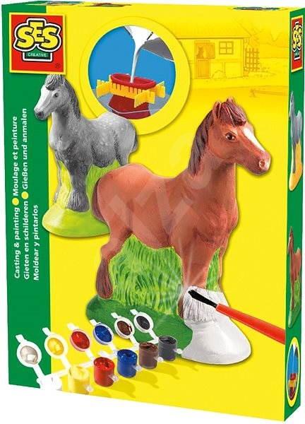SES Sádrový komplet – kůň - Kreativní sada