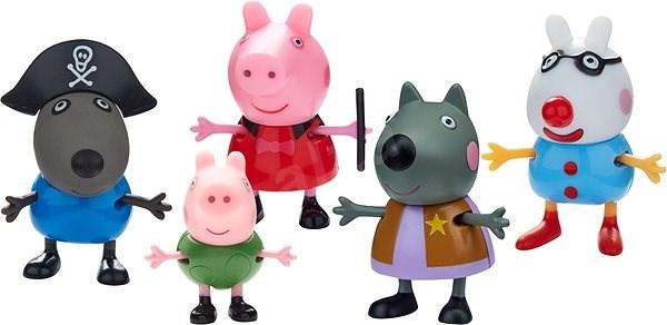 Peppa Pig Maškarní šaty, set 5 figurek - Herní set