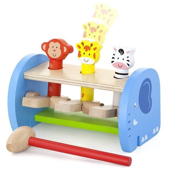 Dřevěná zatloukačka se zvířátky - Dřevěná hračka