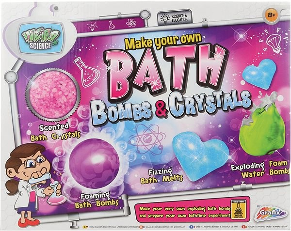 Výroba bomb do vany - Experimentální sada