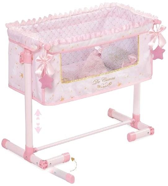 DeCuevas Toys Novorozenecká postýlka pro panenky s doplňky Maria - Nábytek pro panenky