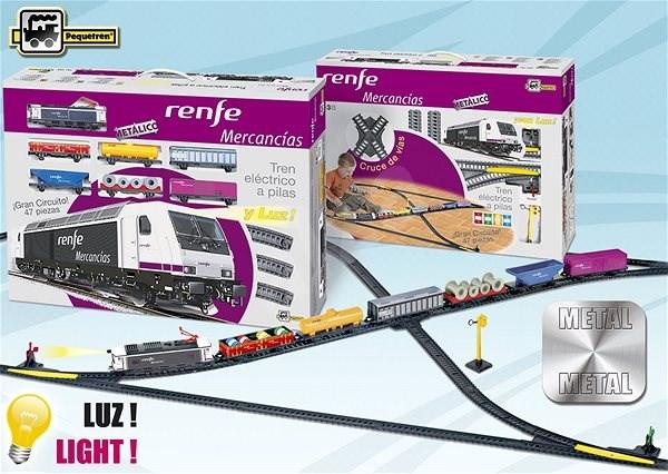 Pequetren Renfe Mercanías - nákladní vlak - Vláčkodráha