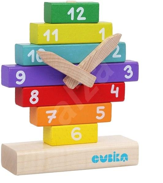 Cubika 14354 Hodiny s magnetickými ručičkami  - Dřevěná hračka