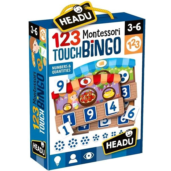 Montessori - Hmatové bingo - Společenská hra