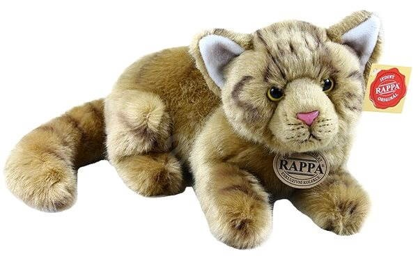 Rappa Kočka hnědá, ležící - Plyšová hračka