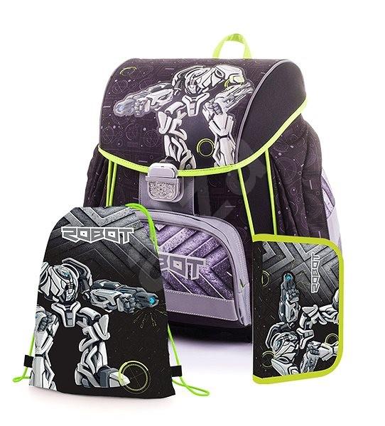 Karton P+P Premium ROBOT (batoh+penál+sáček) - Školní set