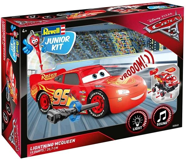 3915dab316b Revell Junior Kit 00860 auto – Lightning McQueen - Plastový model ...