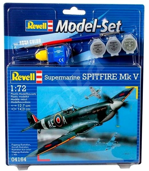 Revell Model Set 64164 letadlo – Spitfire Mk.V - Plastikový model
