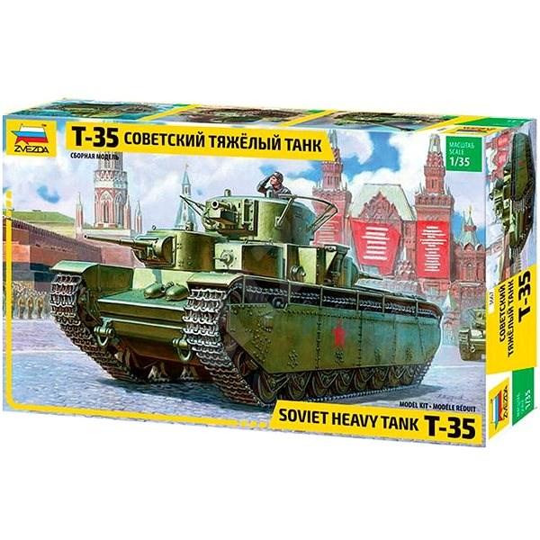 Zvezda Model Kit Z3667 tank – T-35 Heavy Soviet Tank - Plastikový model