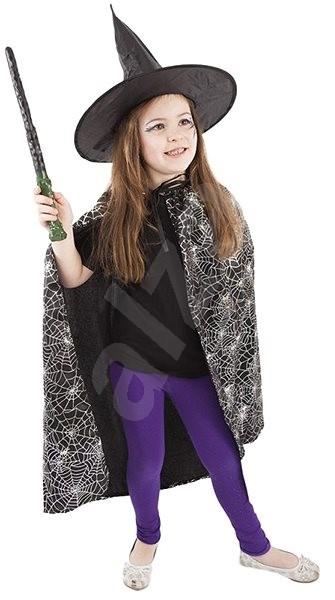 Rappa Karnevalový kostým plášť + klobouk čarodějnický halloween - Dětský  kostým 655c59400a