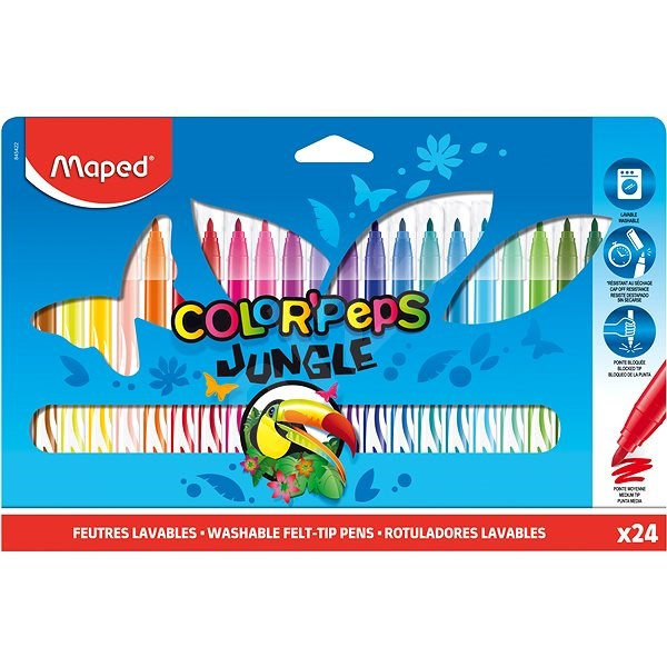Maped Color Peps Jungle, 24 barev - Fixy