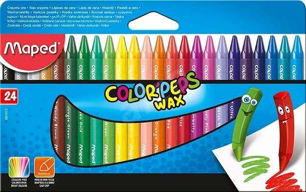 Maped Color Peps Wax, 24 barev - Pastelky