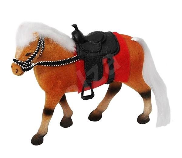 Kůň 18 cm s příslušenstvím (NOSNÁ POLOŽKA) - Zvířátko