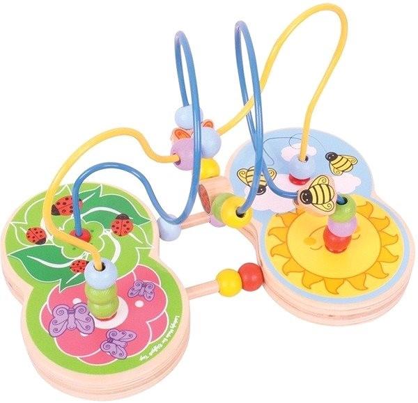 Bigjigs Motorický labyrint Louka - Didaktická hračka