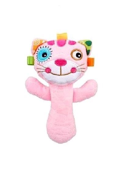 Discovery baby Chrastítko kočička - Textilní hračka