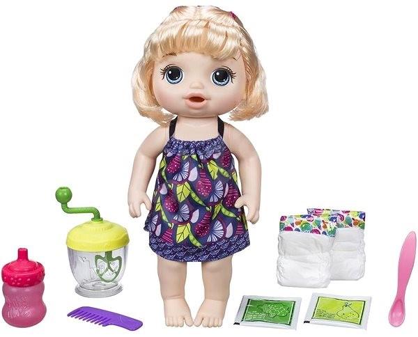 Baby Alive Blonďatá panenka s mixérem - Panenka
