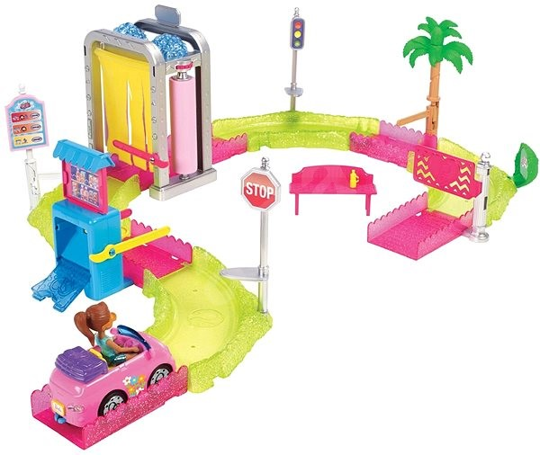 Barbie Mini vozomyčka herní set - Panenka