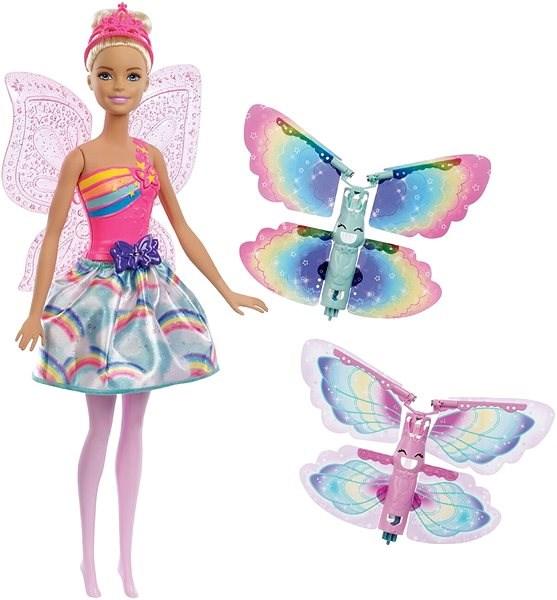 Barbie Létající víla s křídly - blondýnka - Panenka