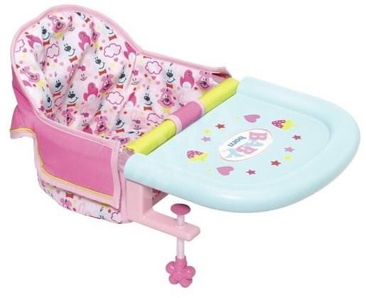 BABY Born Jídelní židlička s uchycením na stůl - Doplněk pro panenky
