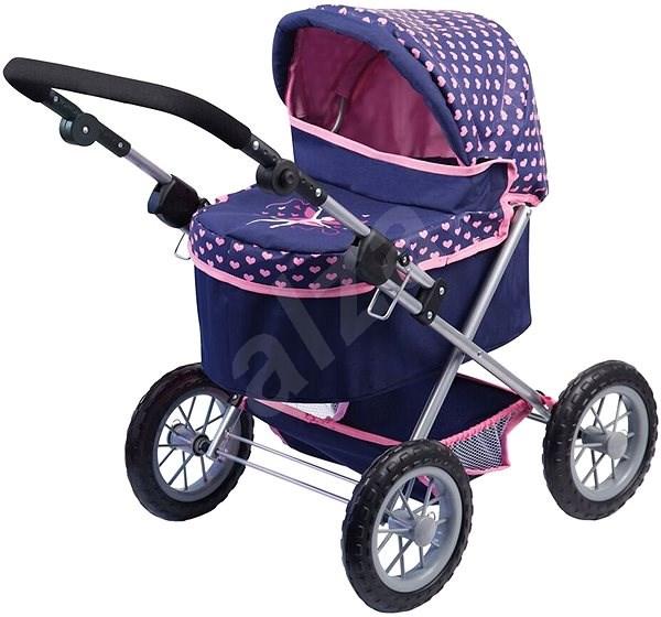 Kočárek Trendy fialovo-růžový - Kočárek pro panenky