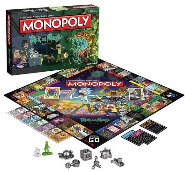 Monopoly Rick and Morty, ENG - Společenská hra