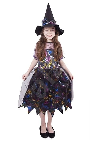 Witch coloured size S - Children's Costume