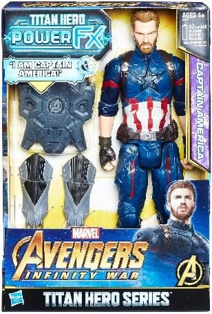 Avengers Captain America s Power pack příslušenstvím - Figurka