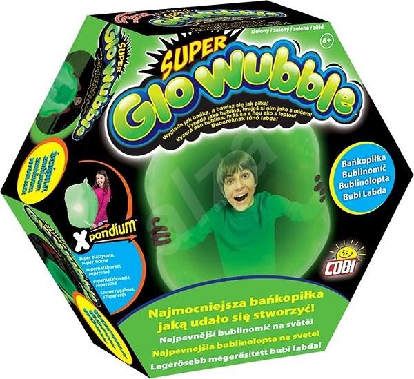 Super bublinomíč svítící ve tmě - zelený - Nafukovací míč
