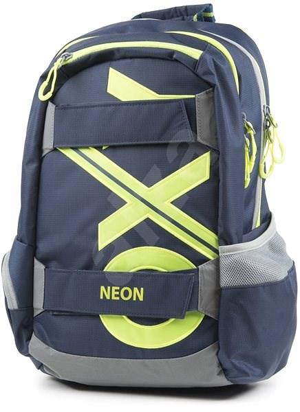 OXY Sport Blue Line Green - Školní batoh  8d0eedb071