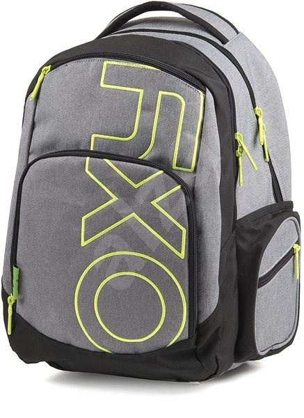 OXY Style GREY LINE Green - Školní batoh  03b820453d