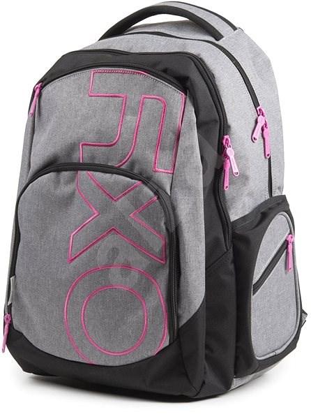 d40bc0cdfb2 OXY Style GREY LINE Pink - Školní batoh