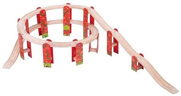 Bigjigs Rail Víceúrovňový set kolejí - Příslušenství k vláčkodráze